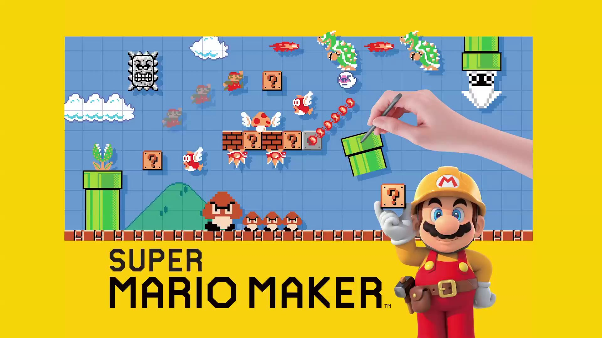 Super Mario Maker for Wii-U Masthead