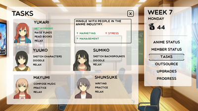 Anime Studio Simulator Screenshot 2