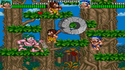 Johnny Turbo's Arcade Joe and Mac Caveman Ninja Masthead