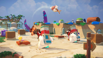 Mario + Rabbids: Kingdom Battle - Donkey Kong Adventure Screenshot 1