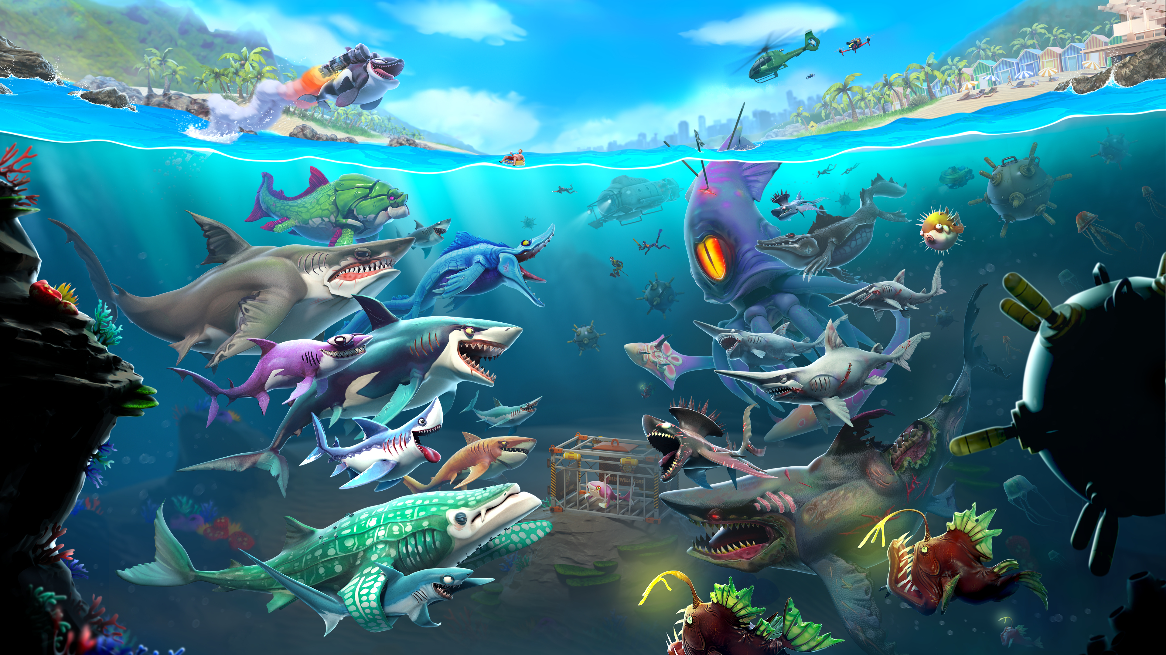 Hungry Shark World Masthead