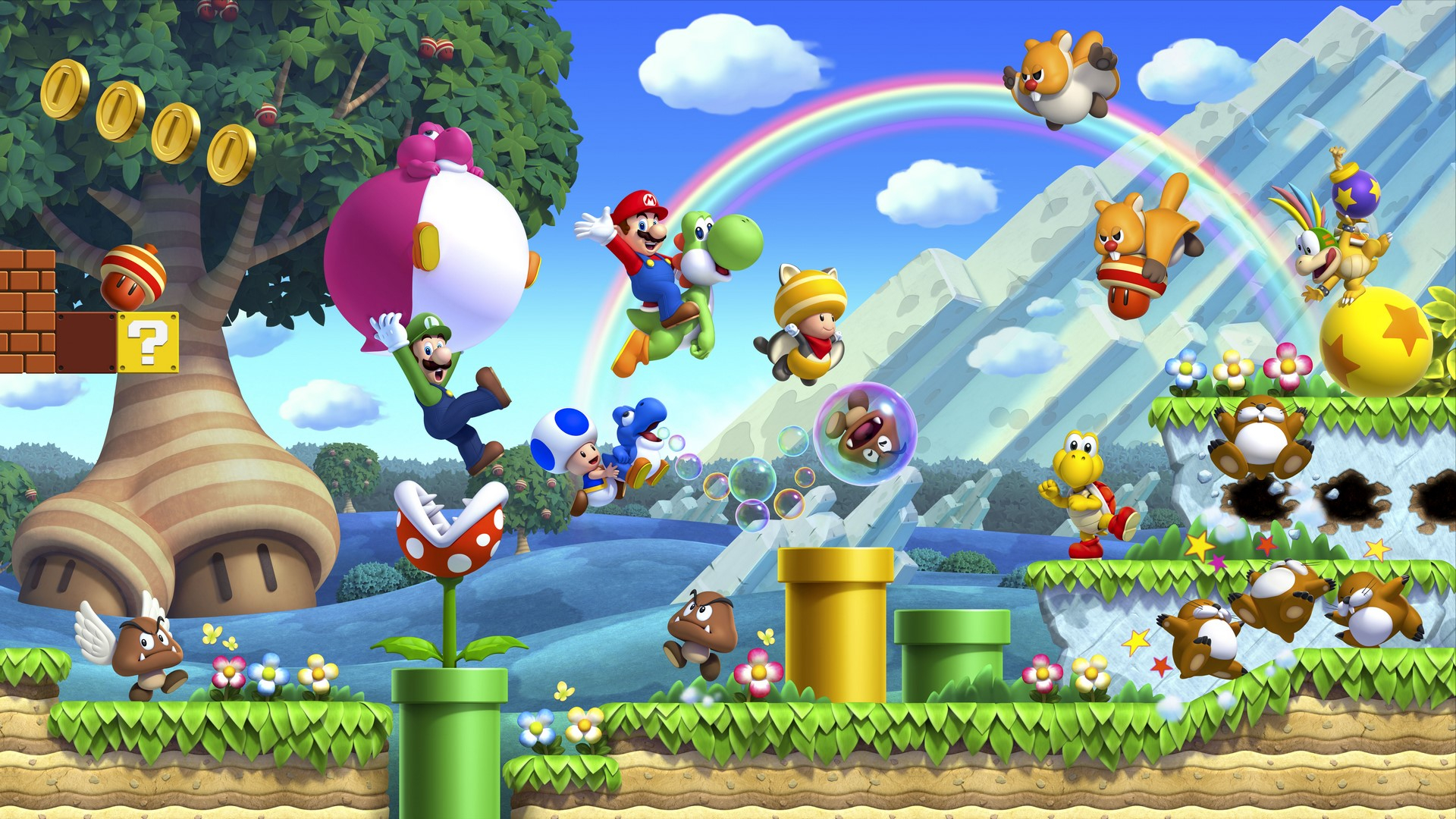 New Super Mario Bros. U Deluxe Masthead