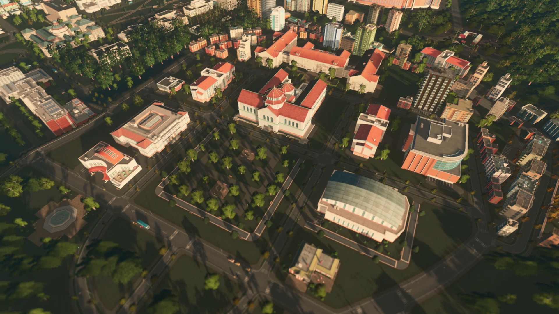 Cities: Skylines - Campus Masthead