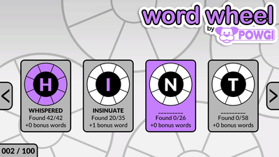Word Wheel by POWGI Screenshot 3