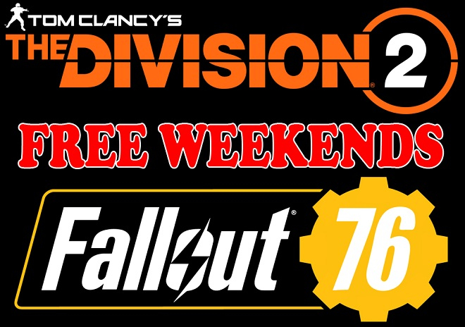 Play The Division 2 & Fallout 76 for free during special events Header Image