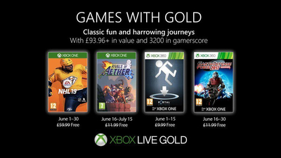 Xbox Games with Gold for June 2019 feature NHL 19 and Portal