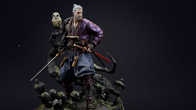 CD Projekt Red has launched an online store, shows off Ronin Geralt statue