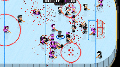 Zany, gory throwback Super Blood Hockey coming to consoles