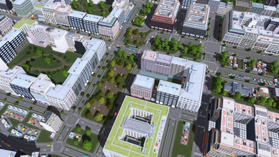 Cities: Skylines gets Modern City Center and Downtown Radio packs