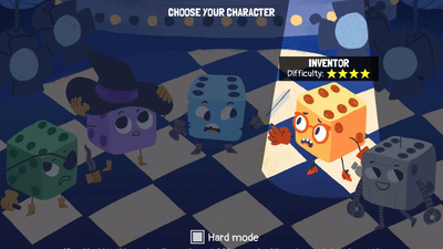 Simple dice become the heroes in Terry Cavanagh's newest, Dicey Dungeons