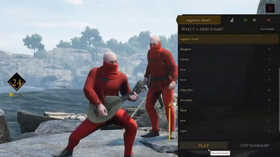 Mordhau players figured out how to sneak into the character select screen