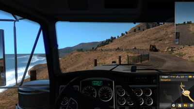 American Truck Simulator challenges players to clear a landslide