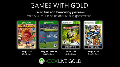 Xbox Games with Gold adds Marooners, The Golf Club 2019 to May lineup