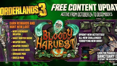 Borderlands 3's Bloody Harvest event kicks off this week