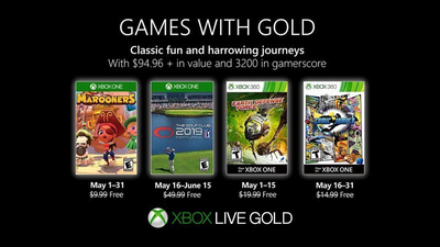 Xbox Games with Gold for May 2019 feature The Golf Club 2019 and Marooners